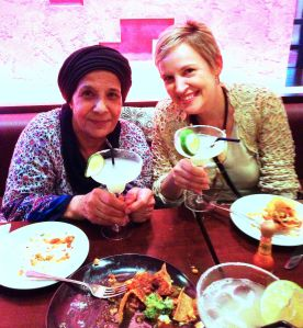 My mother-in-law and I enjoy Mexican food. I had a margarita; she had lime juice.